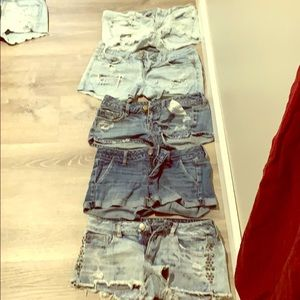 5 pairs jean sorts in good condition